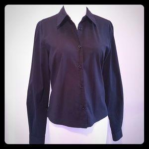 BCBG black button down shirt